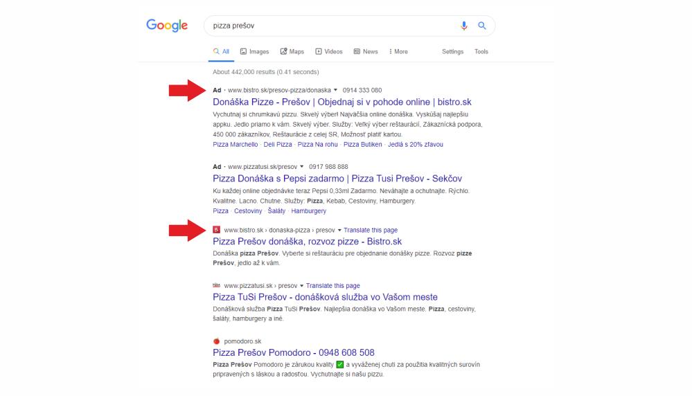 Google upravil vzhľad vyhľadávania