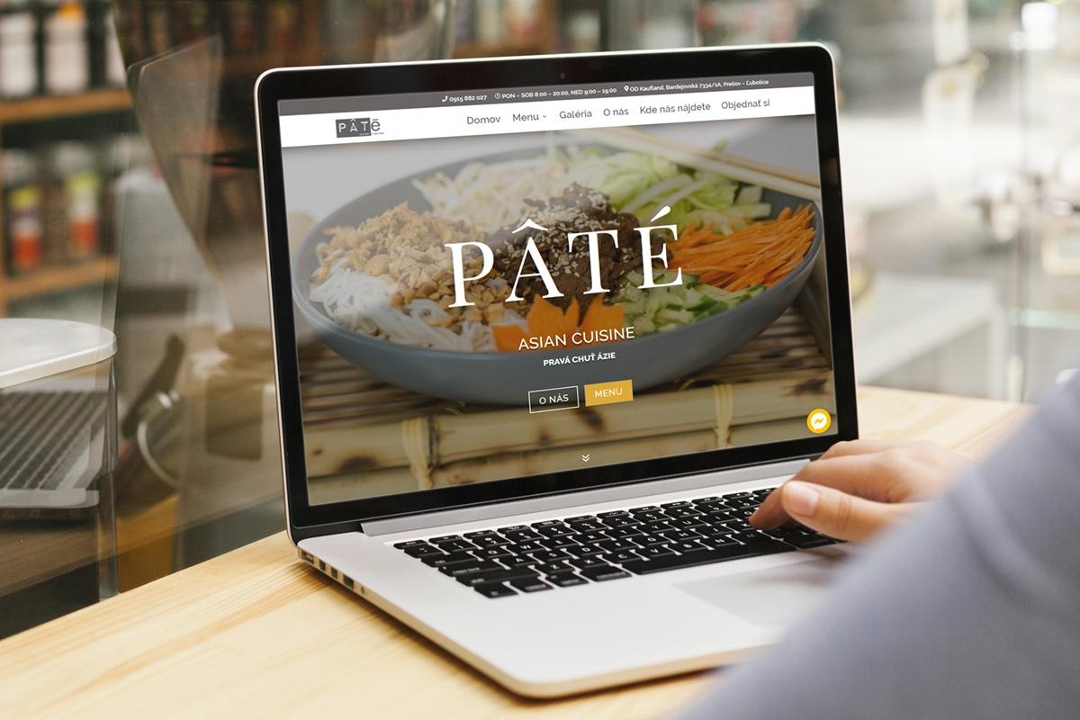 Webstránka pre Paté Asian Cuisine Prešov