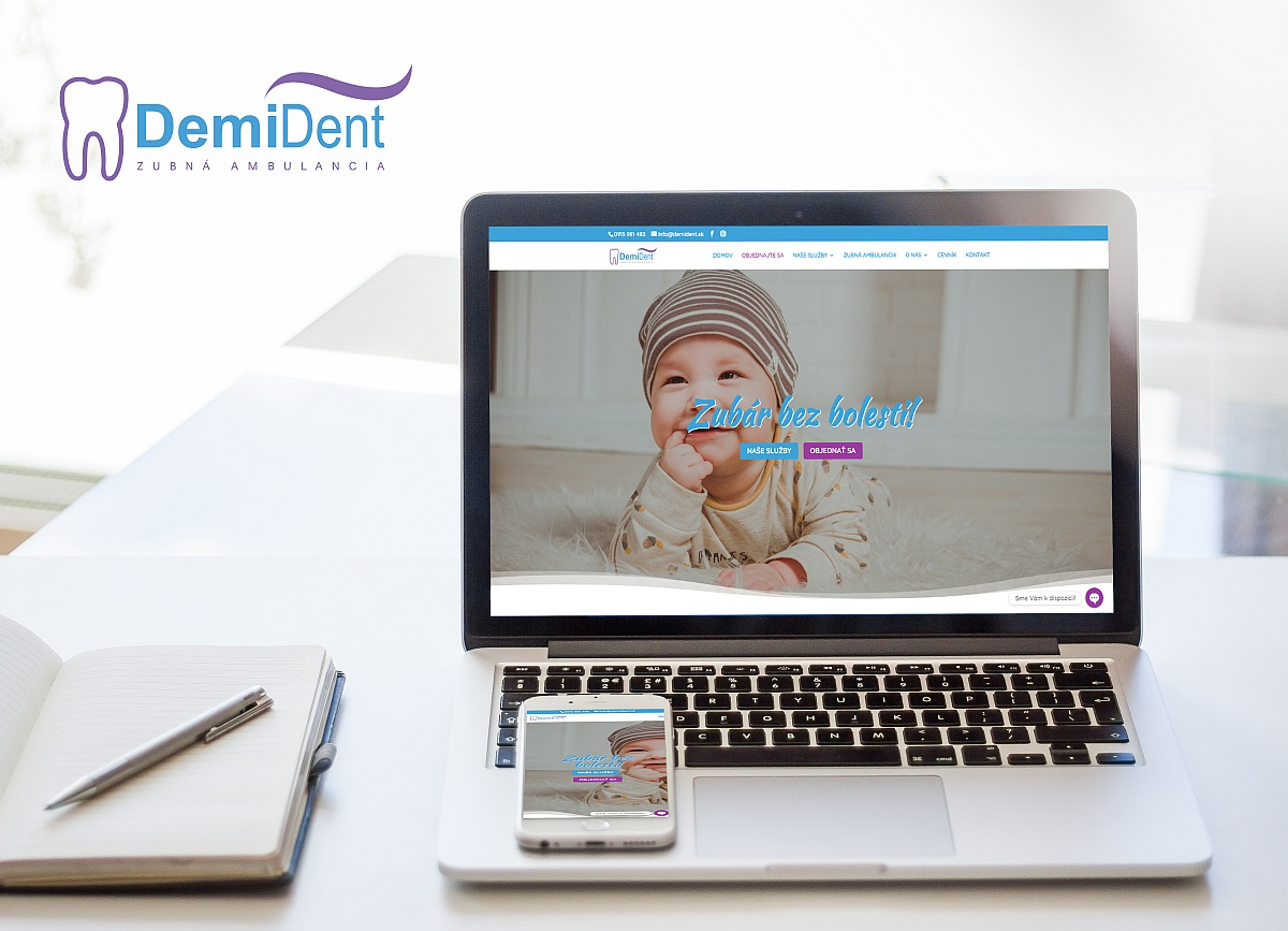 Webstránka pre Demident