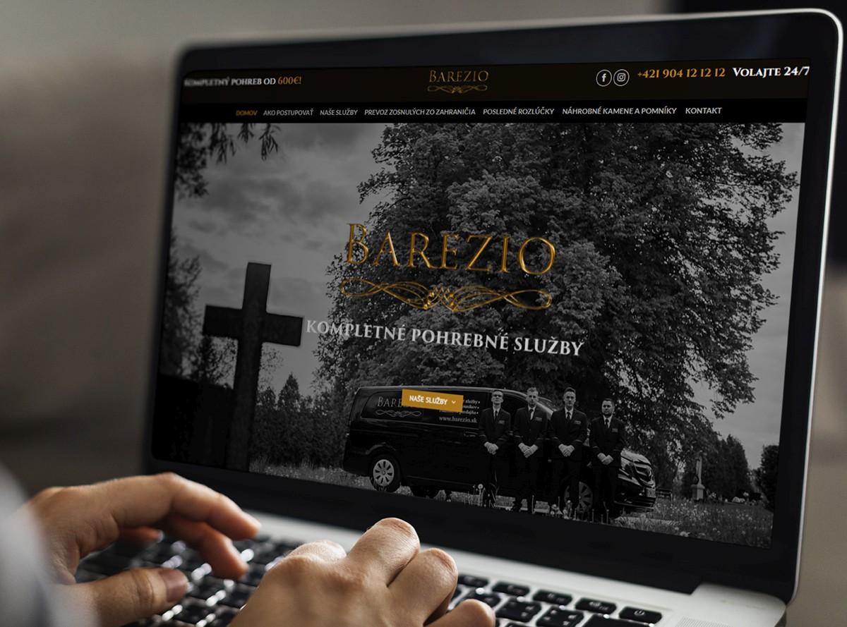 Webstránka pre Barezio