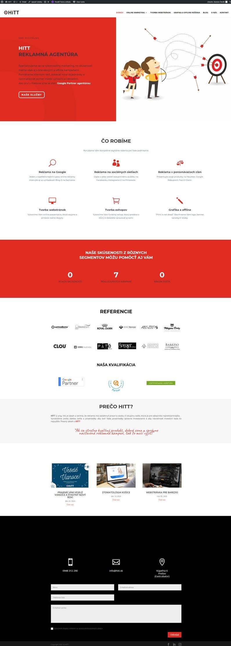 Web našej agentúry HiTT po redizajne